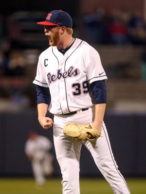 Ole Miss starting pitcher Brady Feigl posted a career-high 12 strikeouts in a series-clinching victory over No. 17 Auburn Friday night.