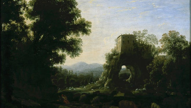 """Don't just pass by Claude Lorrain's """"Pastoral Landscape"""" at the Blanton Museum of Art."""