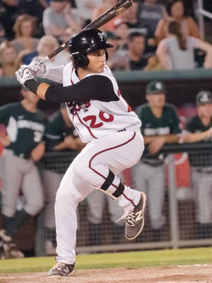 Lansing Lugnuts 19-year old infielder Bo Bichette is leading the Midwest League in hitting at the all-star break.