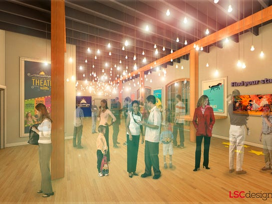 Renderings of plans for DreamWrights. The nonprofit