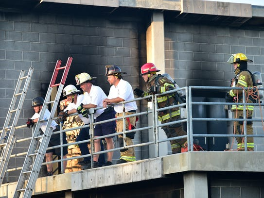 Cadets in the Junior Firefighter Academy held a skills