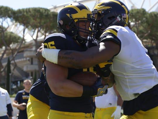 The University of Michigan football team held its last