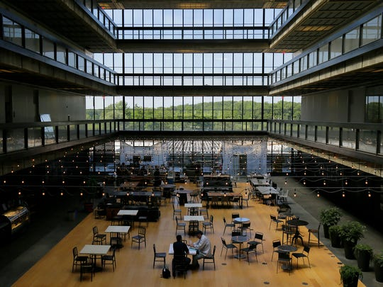 View of the cafe at Bell Works, which is slowly becoming one of the hippest places to work in New Jersey, if not the country, in Holmdel, NJ Wednesday, June 22, 2017.