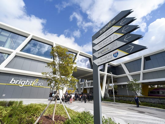 Brightline's West Palm Beach station is shown in this January, 2018 file photo.