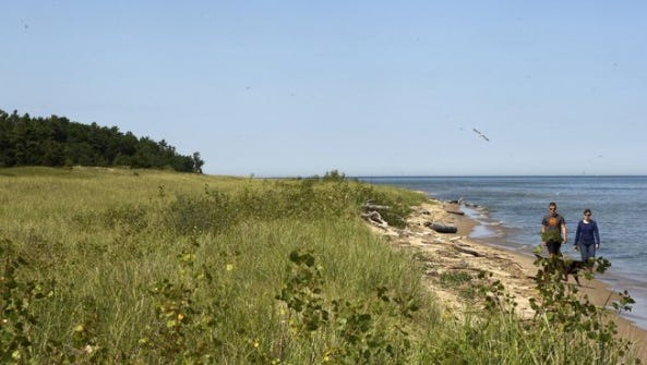 An archaeological study of Kohler Co.'s site shown here for a high-end 18-hole golf course along the Lake Michigan shoreline has revealed thousands of cultural artifacts dating back more than 2,000 years.