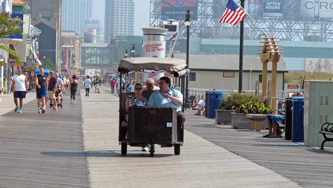 Walk the Atlantic City boardwalk or take a ride on a rolling chair, just like in the late 1800s.