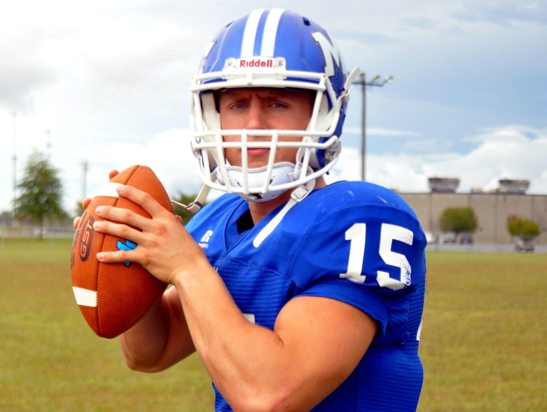 Macon County quarterback Seth Carlisle.