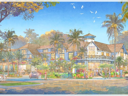 Rendering of Old Naples Hotel in downtown Naples. View
