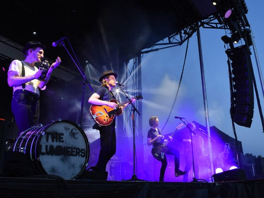 The Lumineers perform during the 2016 Speed of Sound Festival in Dutchess County.