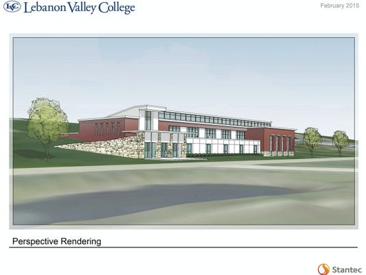 This is an artist's rendering of Lebanon Valley College's proposed Health Professions Building, which the college hopes to build on the north side of its campus.