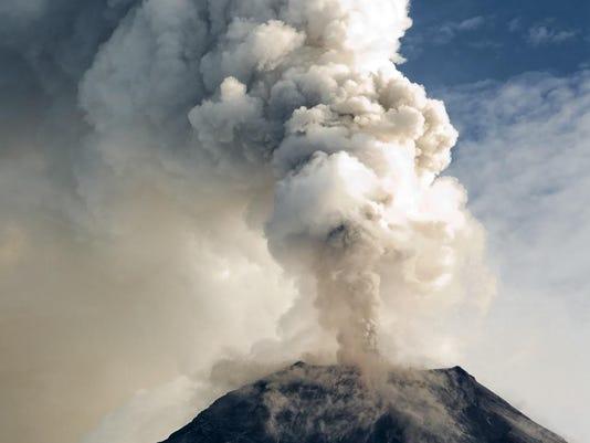 The Tungurahua volcano eruption