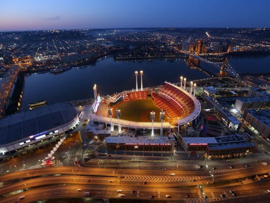 Great American Ball Park in the early-morning light