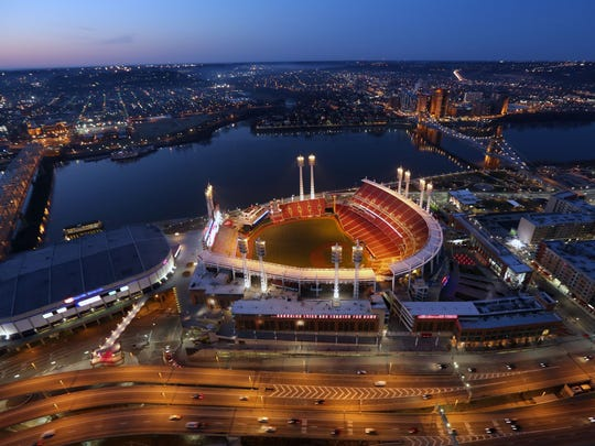 Great American Ball Park in the early-morning light on Opening Day 2014