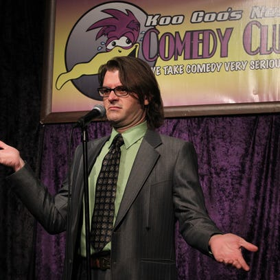 Local comedian and musician Jerry Duginski performed at Koo Coo's Nest Comedy Club in Schofield on Friday.