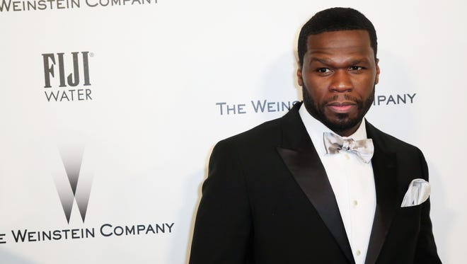50 Cent attends The Weinstein Company & Netflix's 2015 Golden Globes After Party presented by FIJI Water, Lexus, Laura Mercier and Marie Claire at The Beverly Hilton Hotel on January 11, 2015 in Beverly Hills, California.