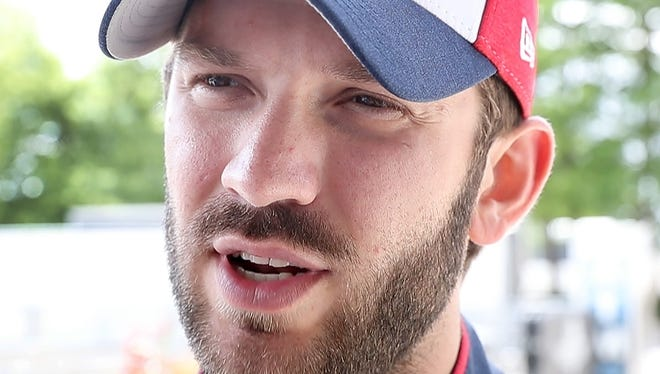 NASCAR teams took to the Indianapolis Motor Speedway oval for tire testing Wednesday, June 27, 2018. Here Joe Gibbs Racing's driver Daniel Suarez talk about his tire testing.