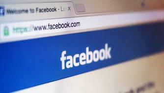 A screenshot of Facebook's website.