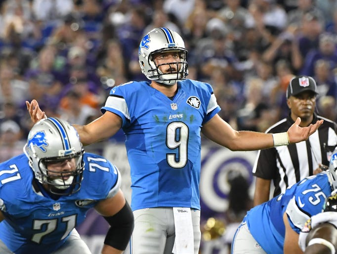 Quarterback Matthew Stafford and the Detroit Lions