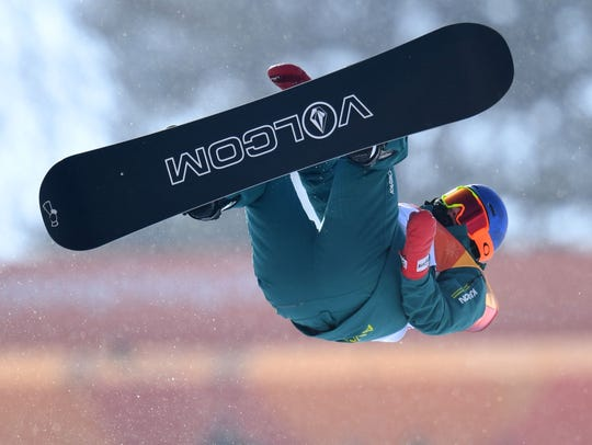 Scotty James of Australia qualified for the snowboard