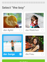 Screenshot of Duplingo app