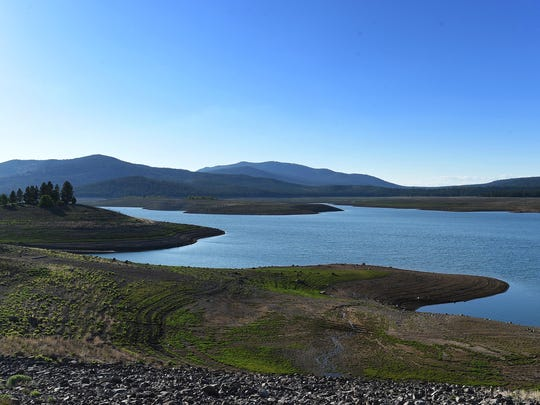 The Stampede Reservoir is seen on May 27, 2015.