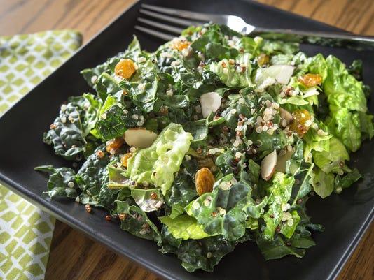 Quinoa kale salad keeps healthful eating resolutions on track