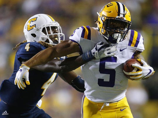 LSU's Derrius Guice leads a deep group of running backs
