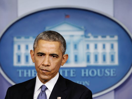 BESTPIX President Obama Holds End-Of-Year News Conference At The White House