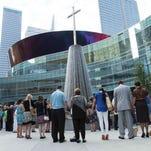 Prayer in Dallas on July 10, 2016.