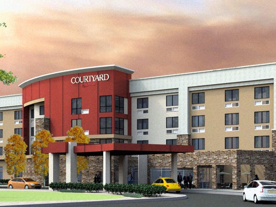 Artists rendering of a planned hotel on the western