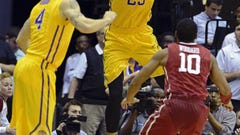 LSU led No. 1 Oklahoma big, but fell by 77-75