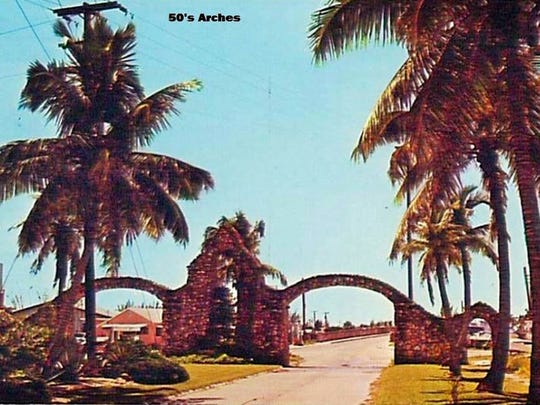 The massive stone archway on San Carlos Boulevard greeted all visitors to Fort Myers Beach for 55 years