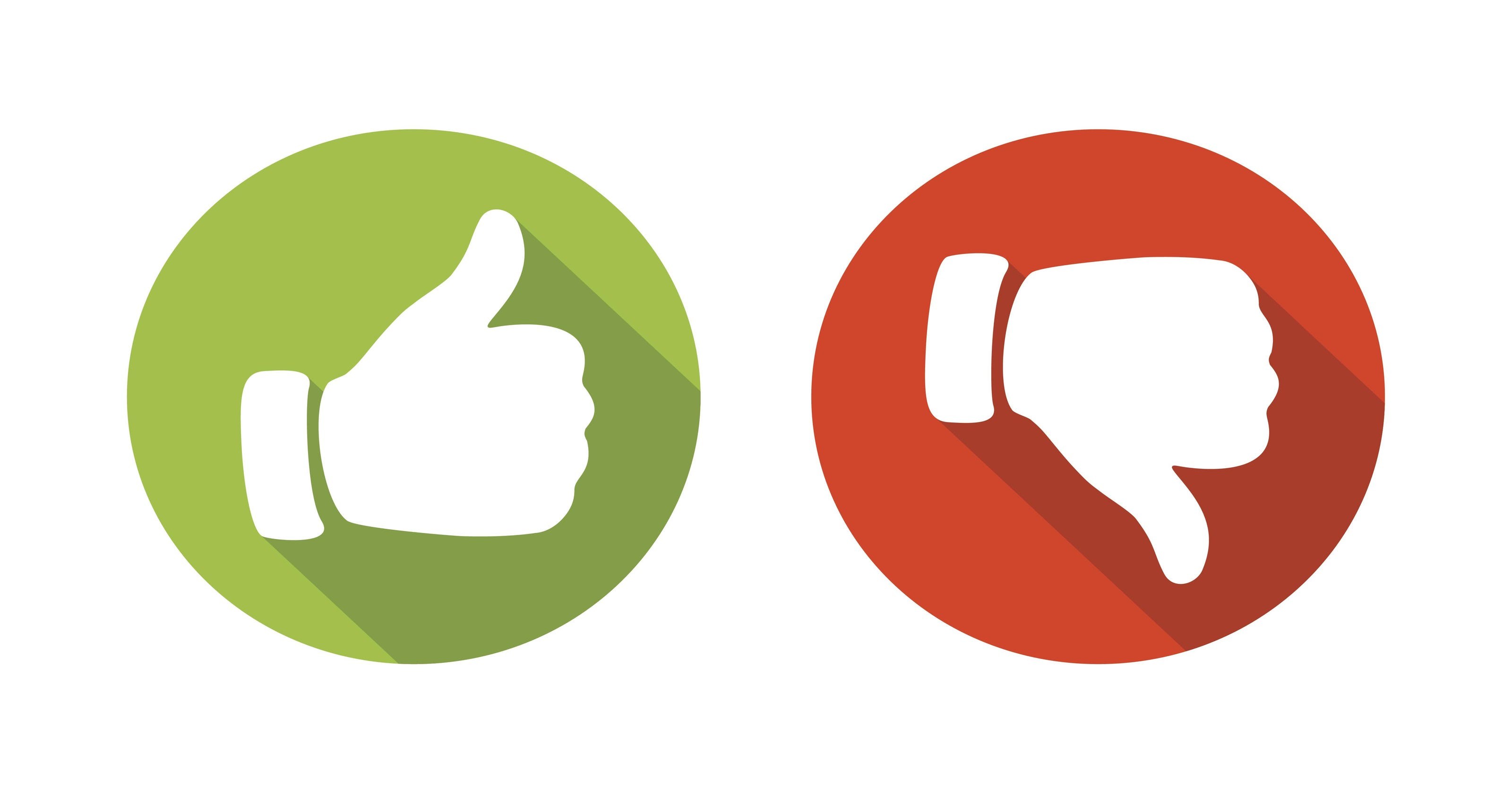 Thumbs Up Thumbs Down Clipart