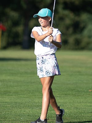 Brooke Beatty of Kent competes in the 6th Portage Kids Amateur at Sunny Hill Golf Course in Brimfield.