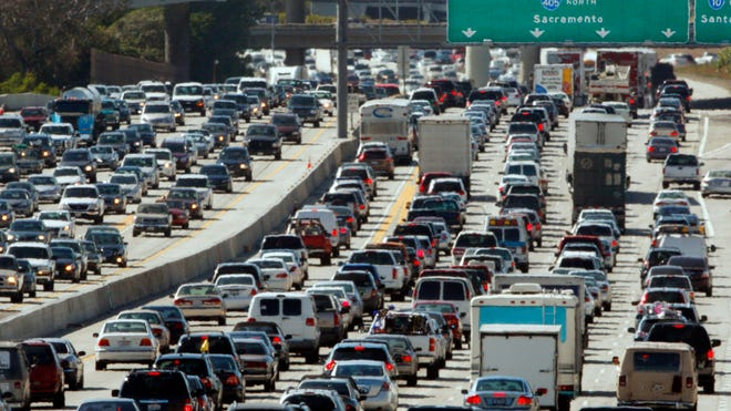Los Angeles drivers spend an average of 90 hours a year stuck in traffic delays, according to a study.