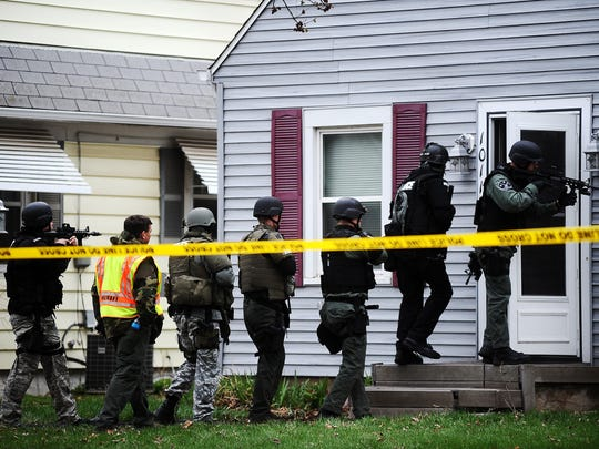 South Dakota law enforcement agencies conduct SWAT training in central Sioux Falls in this file photo.