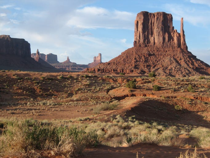 The view of West Mitten Butte and other rock formations