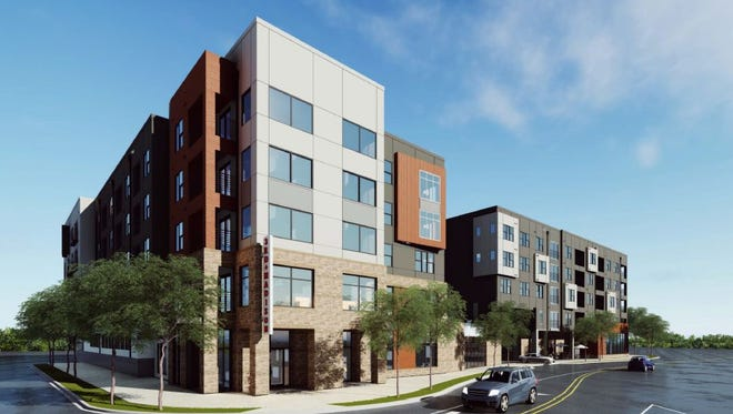 A rendering of 3rd & Madison, which is planned for the corner of Third Avenue North and Madison Street in Germantown.