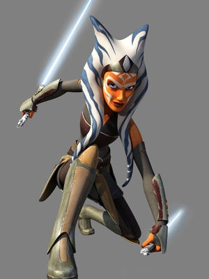 Ahsoka the Jedi makes a surprise appearance in the first-season finale of 'Star Wars Rebels.'