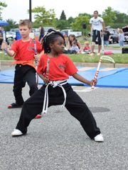 Charlie Smith, 6, of Vineland performs a martial arts