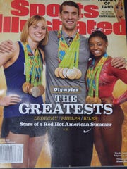 "The Aug. 22 edition of Sports Illustrated has Olympians on cover and refers to profile story on ""Why So Angry, Doug Baldwin?"""