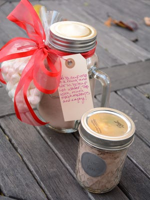 Homemade hot cocoa mix makes a great host gift.