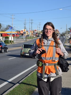 Matt Baumer, 33, is walking cross-country barefoot to raise awareness for the environment.