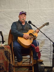 Steve Byrne performed music on the wharves during Second