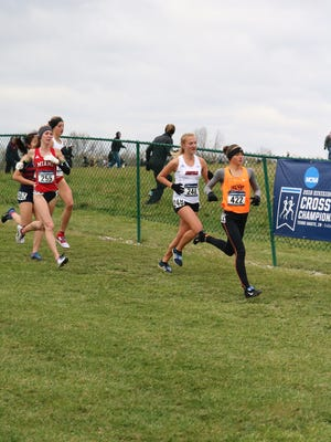 Oklahoma State freshman Michelle Magnani (in front) recently won the U.S. Women's Junior Cross Country title. Magnani, who hails from Moorpark, will now compete in World Championships in Uganda.