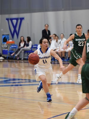 Former Eastlake basketball player Caitlin Aguirre had a strong first year on the college level this past season.