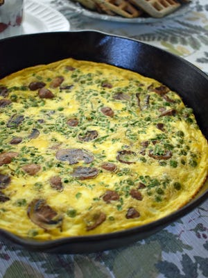 Peas and chives give this frittata a spring accent.