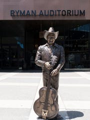 A statue of Little Jimmy Dickens was unveiled outside the Ryman Auditorium on Wednesday.