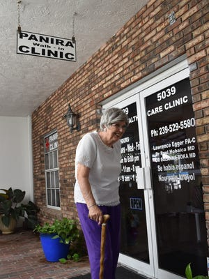 Carolyn Grant, 78, volunteers twice a week at Panira Healthcare Clinic in Naples. She's a volunteer with Collier County's Retired Senior Volunteer program via Senior Corps.