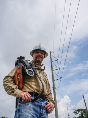 Curt Cunningham is a second-generation lineworker with Gulf Power. Saturday is Lineworker Appreciation Day in Florida.